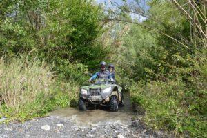 quad nel fiume orsomarso