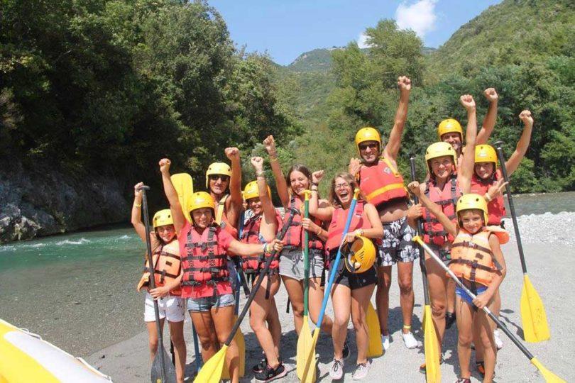 discesa rafting famiglia fiume lao