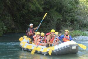 rafting lao bambini